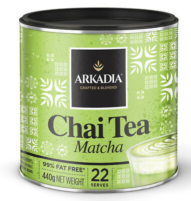 NEW Arkadia Matcha Green Tea Chai Latte Powder 440g can