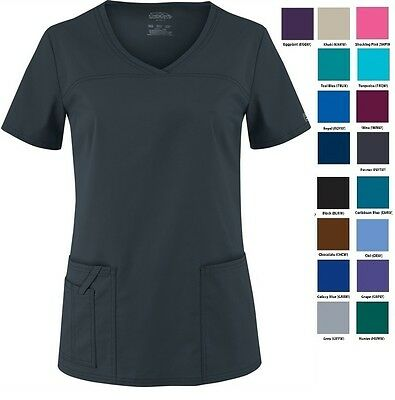 Cherokee Scrubs Core Stretch 4727 V Neck Top All Colors And Sizes NWT