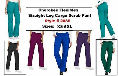 Cherokee Scrubs Flexibles Pants 2085 Mid Rise Knit Waist Pull On Regular NWT