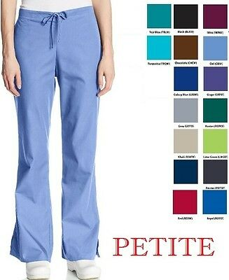 Cherokee Srubs Workwear Flare Drawstring Pants 4101P Petite Choose Color/Size
