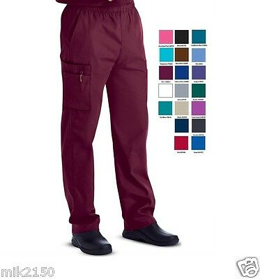 Landau Mens Scrubs Zipper Front Cargo 8555 Pant REGULAR TALL SHORT All color NWT