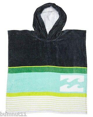 Billabong Grommets Poncho Hoodie - Hooded Beach / Pool Towel. NWT, RRP $39.99.