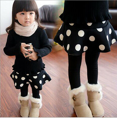 Fall Spring Sets Space Cotton Girl Wild Culottes Girl Leggings Kids' Clothing