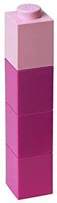 LEGO Square 350ml Drinking Bottle Pink