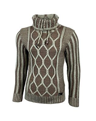 Subliminal Mode – Pull Over Col Roulé Homme Tricot SB-16086 Grosse Maille