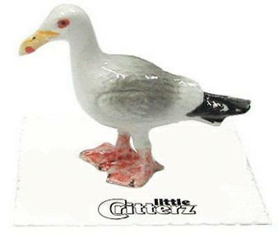 "Little Critterz Miniature Porcelain Animal Figure Seagull ""Cricket"" LC573"