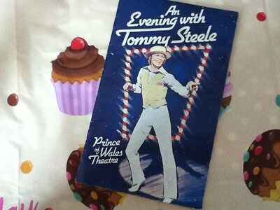 AN EVENING WITH TOMMY STEELE  programme 1970s - Prince of Wales Theatre