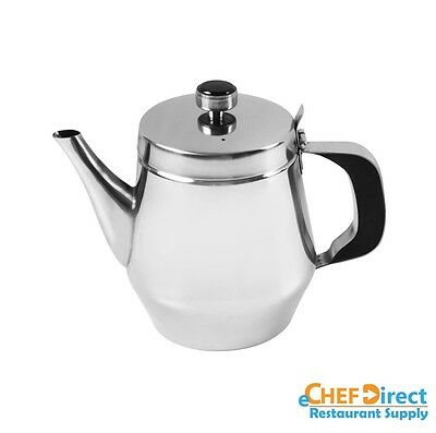 New 20 oz Stainless Steel Teapot with Vented Hinged Lid