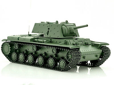 1/16 2.4G RC Henglong Smoke & Sound Russian Kv1 Tank Metal Gearbox Version