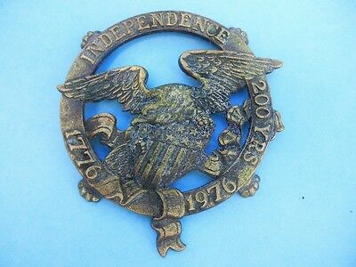 Brass Claw Foot EAGLE Trivet.  200 years Independence 1776-1976  (#18)