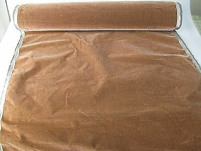 Antique French Millinery Velvet Fabric Cotton Silk Early 19 C Mocha