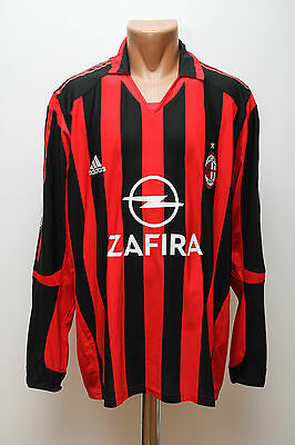 Ac Milan Italy 2005/2006 Home Football Shirt Jersey Maglia Adidas Long Sleeves