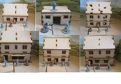 28mm Wargames Houses Building scenery 40k Bolt action WW2  Laser Cut 3mm MDF