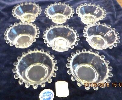 """Imperial Candlewick  - Set of 8 Dippers Salts - 2 1/2"""""""