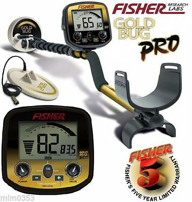 Fisher Goldbug Pro with 5 and 10 inch coil's, coil covers and headphones