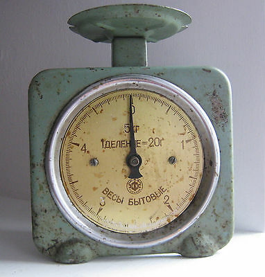 Vintage antique old russian soviet mechanical kitchen family Metal scale, 5 kg