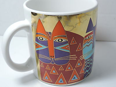 *GOLD* Laurel Burch 'WILD CATS' Collectible Mug/Cup 1991