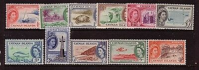 CAYMAN ISLANDS....  1953 pictorials set only to 1/-  mint