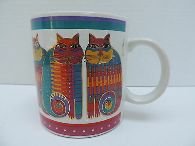 Laurel Burch Rainbow Cat Cousins 1988 Coffee Mug