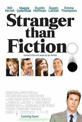 STRANGER THAN FICTION MOVIE POSTER Original DS 27x40 Advance Style  WILL FERRELL