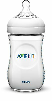 Philips Avent BPA Free Natural Polypropylene Bottle 11 Ounce 3-Count Clear New