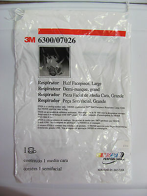 New 3M HALF FACEPIECE MASK LARGE REUSABLE RESPIRATOR 6300/07026 FREE SHIPPING