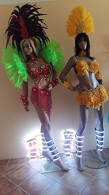Brazilian SAMBA 1 Pair Leg + Arm SET! Carnival LED Light Costume Parts Parade