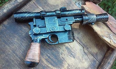 Han Solo DL-44 Blaster Hand Painted Star Wars Cosplay w/ Blaster Sound!! Prop