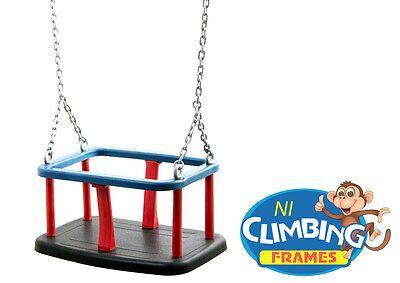 New Bounce Outdoor Baby Toddler Swing Seat with Heavy Duty Rust-Proof Chain UK