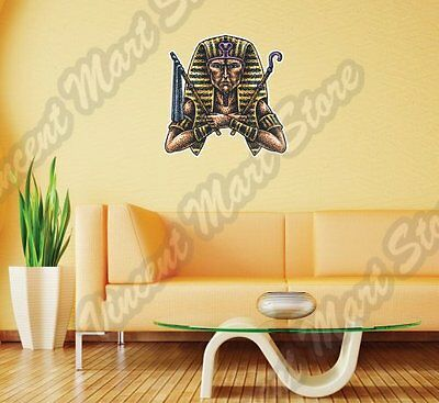 "Egyptian Pharaoh God Sarcophagus Sphinx Wall Sticker Room Interior Decor 22""X22"""