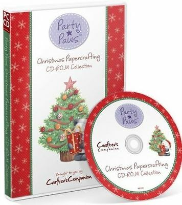 Crafters Companion Party Paws Christmas Papercrafting CD-ROM Collection