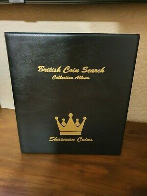 British Coin Search Collection Album & All Pages 1p to £2 including Olympic 50p