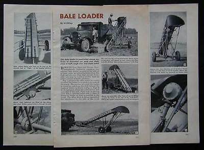 Hay Bale Loader How-To build PLANS from auto parts+stock metal