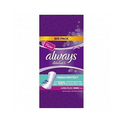 Always Dailies Fresh Leakage Protect Long Plus 44 Pantyliner Absorption Dryness