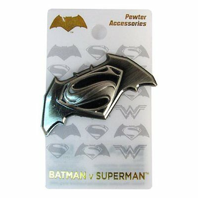 Batman v Superman Dawn of Justice Deluxe Pewter Lapel Pin Official Merchandise