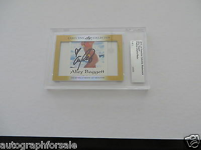 Alley Baggett 2015 Leaf Masterpiece Cut Signature signed card 1/1 JSA Playboy