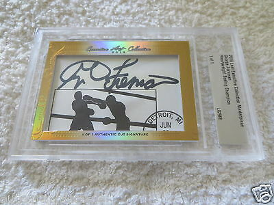 George Foreman 2016 Leaf Masterpiece Cut Signature signed auto boxing 1/1 JSA