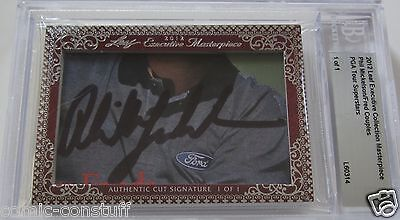 Phil Mickelson Fred Couples 2012 Leaf Masterpiece Cut Signature signed auto 1/1