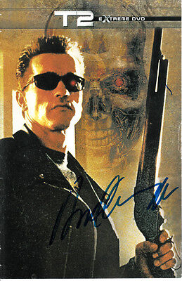Arnold Schwarzenegger autographed signed auto Terminator 2 movie DVD booklet COA