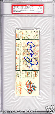 Cal Ripken signed auto Consecutive Game 2131 ticket PSA/DNA graded PSA 8 Orioles