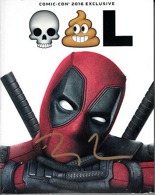 Ryan Reynolds signed auto autographed Deadpool 2016 Comic-Con exclusive Blu Ray