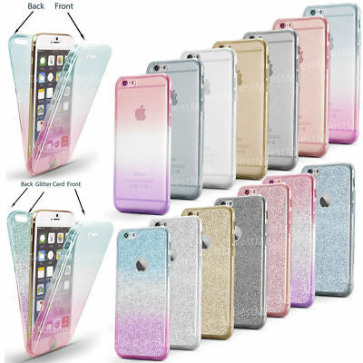 Shockproof 360° Silicone Protective Clear Case Cover For Apple iPhone 6 6s plus
