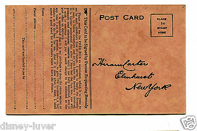 Vintage Advertising Postcard Reply Card OLD SURGEON'S TREATMENT remedy medicine