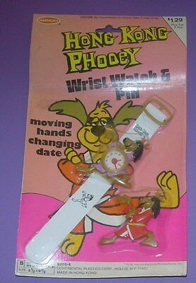Hong Kong Phooey  Wrist Watch & Pin  Rack Toy  Moc  Carded  1976  Harmony