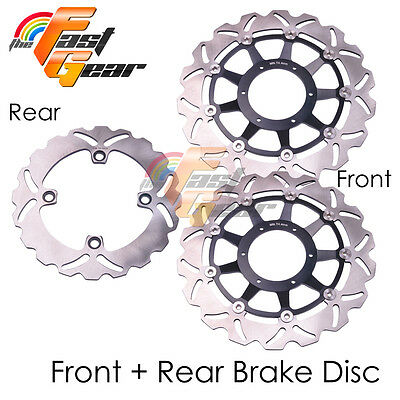 Front Rear SS Brake Disc Rotor Kit For Honda CBR1000RR 06 07