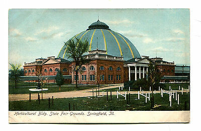 Vintage Postcard SPRINGFIELD IL STATE FAIR GROUNDS Horticultural Building UDB