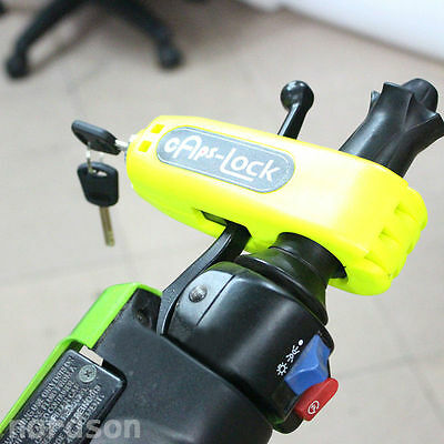 motorcycle scooter handlebar safety lock Brake Throttle Grip Security Lock