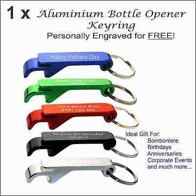 Custom Engraved metal keyring Promotional Business Corporate Personalised Gifts