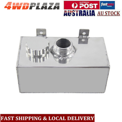 0.5L-Brushed Aluminium Oil Catch Can Tank Inlets+Optional Breather Filter Silver