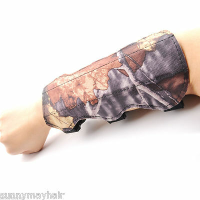 Safty Arm Guard Protection Forearm Camo Leather Made for Men from Archery Bow